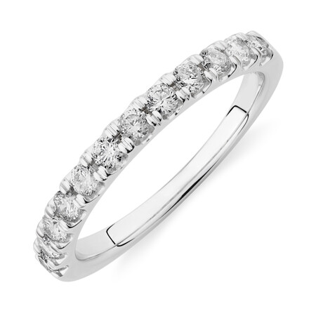 Prelude Wedding Band with 0.50 Carat TW of Diamonds in 14kt White Gold