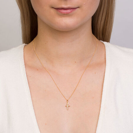 Cross Pendant in 10kt Yellow Gold