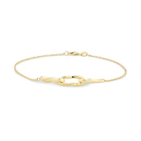 Link Bracelet in 10kt Yellow Gold