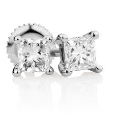 Certified Stud Earrings with 0.46 Carat TW of Diamonds in 14kt White Gold