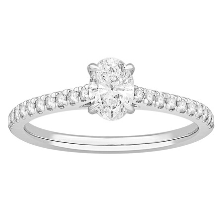Ring with 0.78 Carat TW of Diamonds in 14kt White Gold