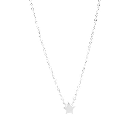 45cm Star Necklace In Sterling Silver