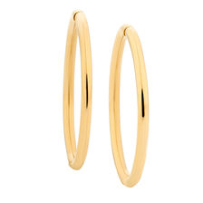 14mm Sleeper Earrings in 10kt Yellow Gold