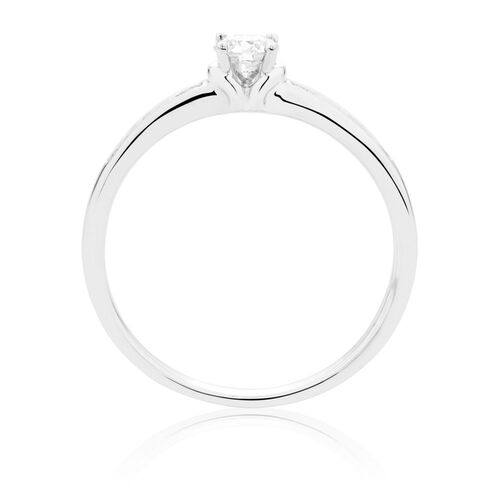 Engagement Ring with 1/3 Carat TW of Diamonds in 18kt White Gold