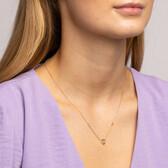 Mini Infinitas Pendant with Diamonds in 10kt Yellow Gold