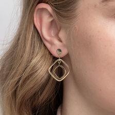 Geometric Drop Earrings in 10kt Yellow Gold