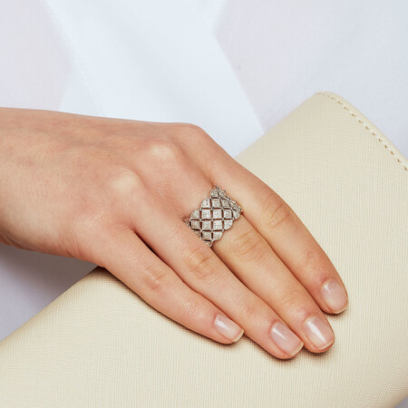Ring with 0.15 Carat TW of Diamonds in Sterling Silver