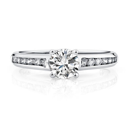 Evermore Engagement Ring with 1 Carat TW of Diamonds in 18kt White Gold