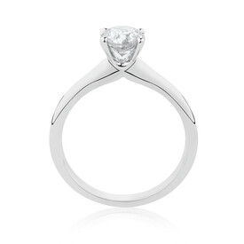 Northern Radiance Solitaire Engagement Ring with a 1 1/2 Carat TW Certified Canadian Diamond in 14ct White Gold