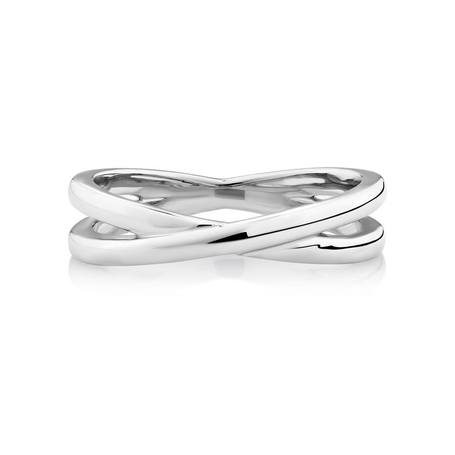 Crossover Ring in Sterling Silver
