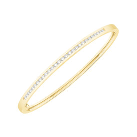 Bangle with 1.00 Carat TW of Diamonds in 10kt Yellow Gold
