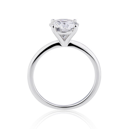 Laboratory-Created 1.75 Carat Diamond Ring in 14kt White Gold