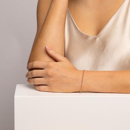 """21cm (8"""") Hollow Belcher Bracelet in 10kt Rose Gold"""