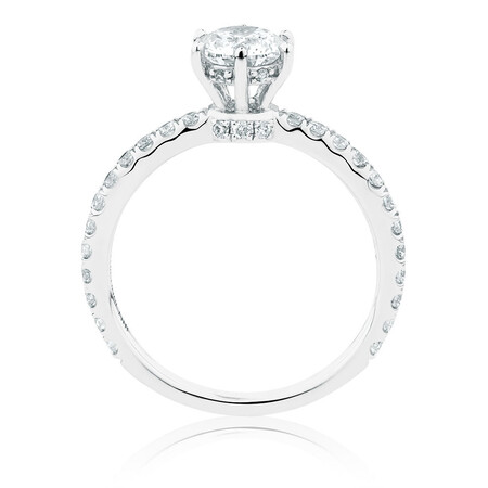 Sir Michael Hill Designer GrandAria Engagement Ring With 1 Carat TW Of Diamonds In 14ct White & Rose Gold