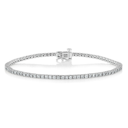 Tennis Bracelet with 2 Carat TW of Diamonds in 10kt White Gold