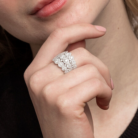 Ring with 2 1/4 Carat TW of Diamonds in 14kt White Gold
