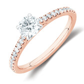 Solitaire Engagement Ring with 1/2 Carat TW of Diamonds in 14kt Rose & White Gold
