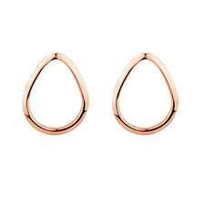 Open Pear Stud Earrings in 10kt Rose Gold
