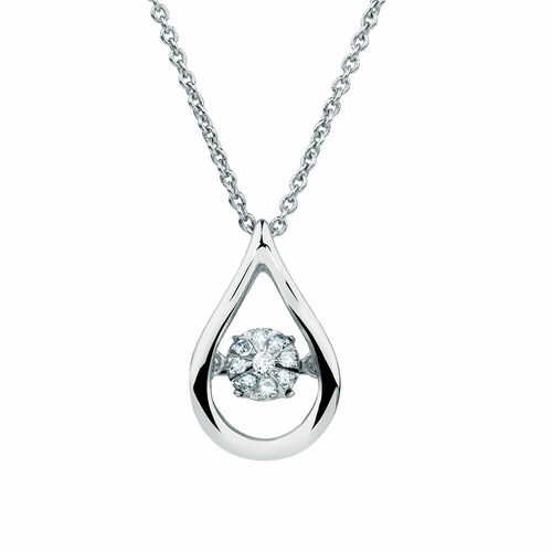 Everlight Pendant with Diamonds in Sterling Silver