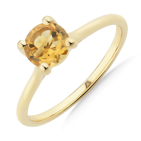 Citrine Ring in 10kt Yellow Gold