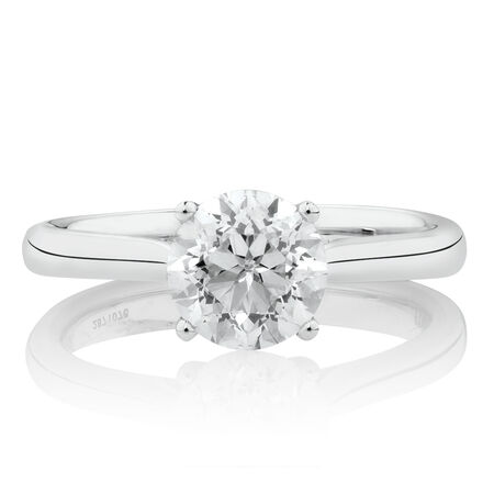 Southern Star Solitaire EngagementRing with 1.5 Carat TW Diamond in 14kt White Gold