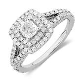 Sir Michael Hill Designer GrandArpeggio Engagement Ring with 1.45 Carat TW of Diamonds in 14kt White Gold