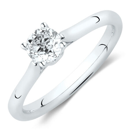 Southern Star Solitaire Engagement Ring with a 1/2 Carat TW Diamond in 14kt White Gold