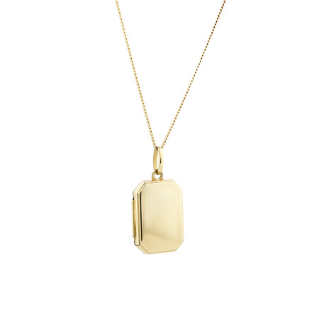 Octagonal Locket Pendant in 10kt Yellow Gold