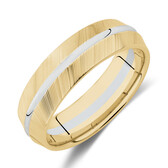 7mm Wedding Band in 10kt Yellow & White Gold