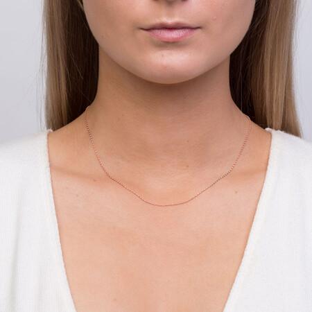 "40cm (16"") Fine Rolo Chain in 10kt Rose Gold"