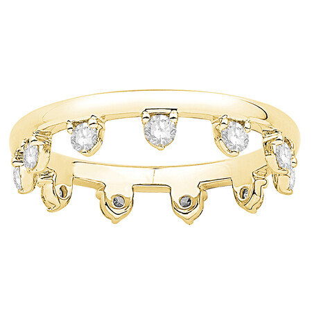 Zipper Ring with 0.37 Carat TW of Diamonds in 10kt Yellow Gold