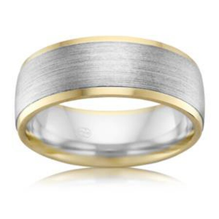6mm Men's Wedding Band in 10kt Yellow & White Gold