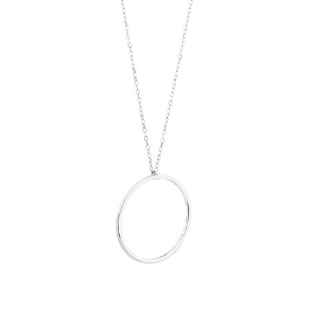 Open Circle Necklace in Sterling Silver