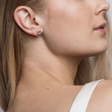 Stud Earrings with Morganite & 0.12 Carat TW of Diamonds in 10kt Rose Gold