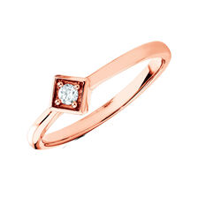Promise Ring with a Diamond in 10kt Rose Gold