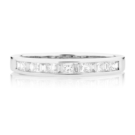 Wedding Band with 0.33 Carat TW of Diamonds in 18kt White Gold