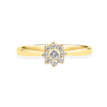 Promise Ring with 0.20 Carat TW of Diamonds in 10kt Yellow Gold