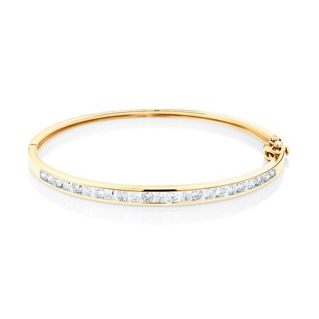 Bangle with 2 Carat TW Of Diamonds in 10kt Yellow Gold