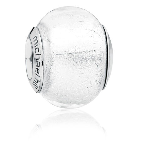 Clear Murano Glass Charm