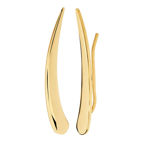 Ear Climbers in 10kt Yellow Gold