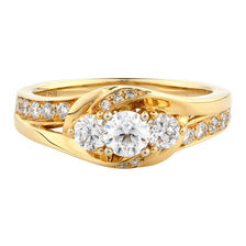 Online Exclusive - Engagement Ring with 0.84 Carat TW of Diamonds in 14kt Yellow & White Gold