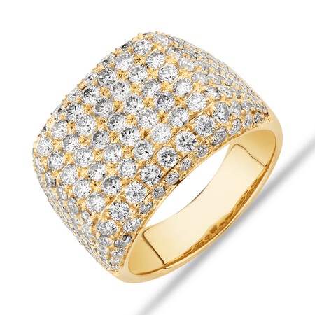 Gents Ring with 5 Carat TW of Diamonds In 10kt Yellow Gold