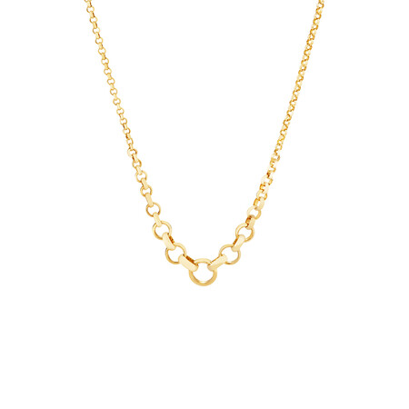 """45cm (17"""") Graduated Belcher Chain in 10kt Yellow Gold"""