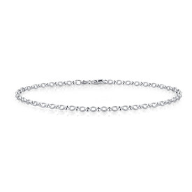 "26cm (10.5"") Rolo Anklet in Sterling Silver"