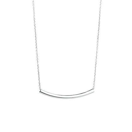 Necklace with Tube in Sterling Silver