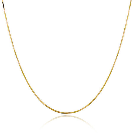 """60cm (24"""") Box Chain in 10kt Yellow Gold"""