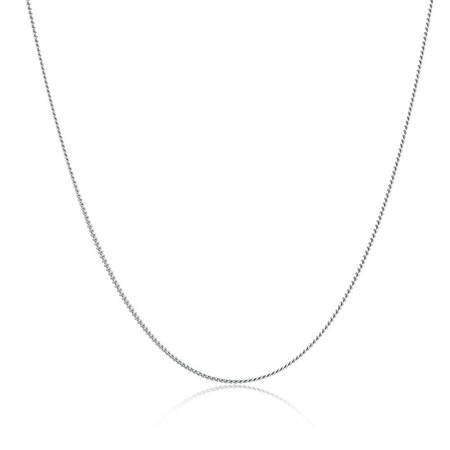 """50cm (20"""") Curb Chain in 10kt White Gold"""