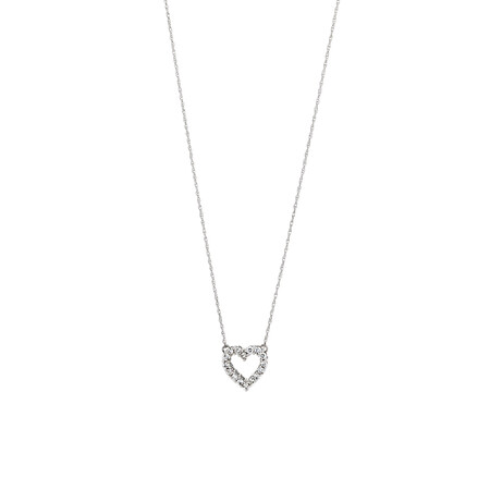 Heart Pendant with 0.25 Carat TW Diamonds in 10kt White Gold