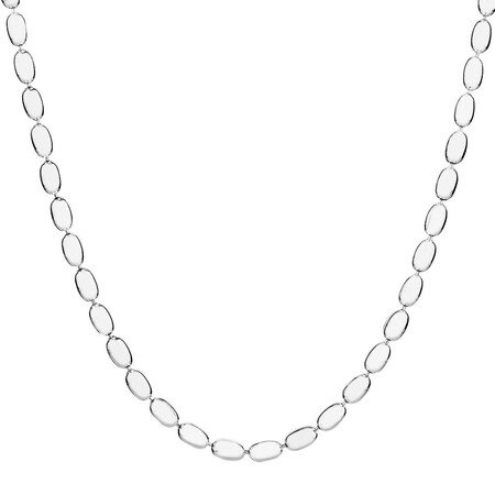 """Sterling Silver 60cm (24"""") Rice Bead Chain"""