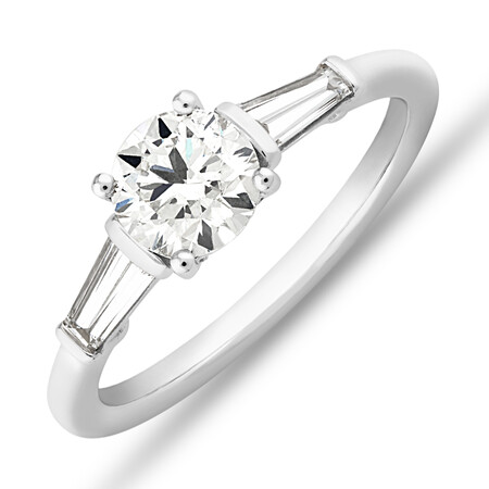 Sir Michael Hill Designer Engagement Ring with 1.13 Carat TW Diamonds in 18kt White Gold